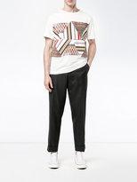 Missoni print and stitch T-shirt - men - Cotton - S