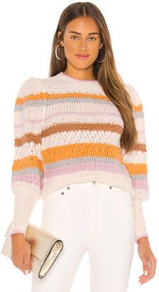 Rebecca Taylor Fluffy Stripe Pullover