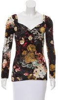Just Cavalli Floral Print Gathered Top