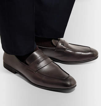 Ermenegildo Zegna L'asola Leather Penny Loafers