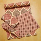 Batik Leaf Runner, Placemats or Napkin Sets of 4