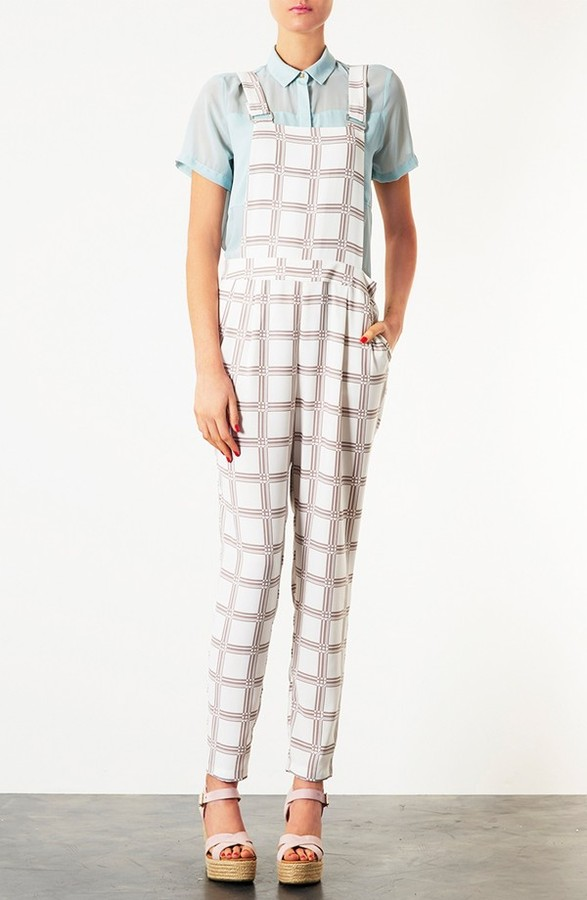 Topshop Checkered Jumpsuit