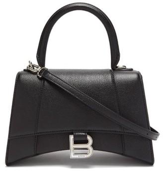 Balenciaga Hourglass S Grained Leather Bag - Black