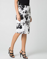 Le Château Floral Scuba Pencil Skirt
