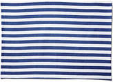 One Kings Lane Set of 4 Beach Towel Stripe Place Mats - Blue/White