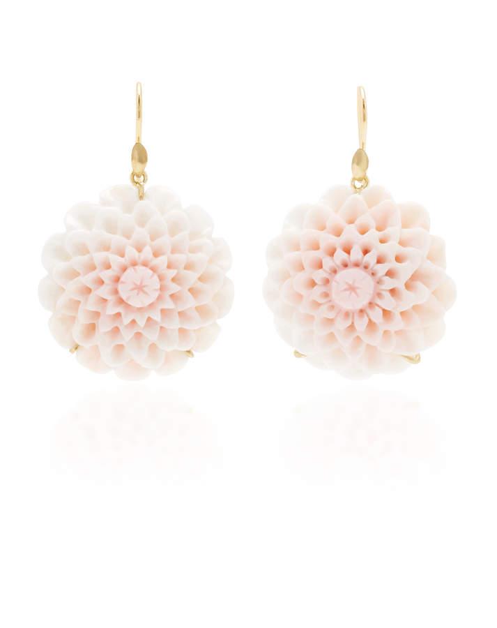 Annette Ferdinandsen Exclusive: Dahlia Blossom Pink Conch Shell Earring