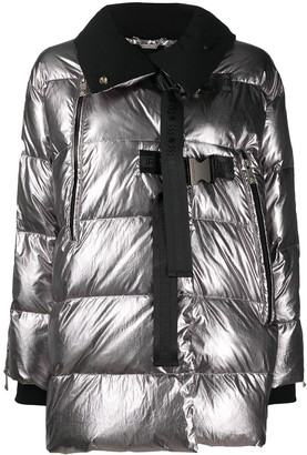 John Richmond Metallic Padded Coat