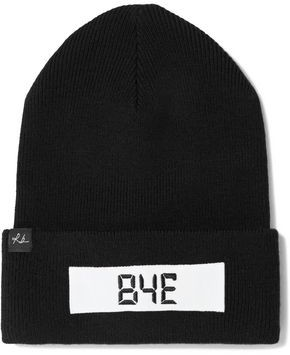 Rag & Bone Addison Appliqued Ribbed Merino Wool-blend Beanie