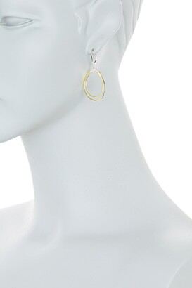 Meira T 14K Yellow Gold Pave Diamond Oval Drop Earrings