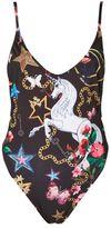 Jaded London **fairy tale unicorn print swimsuit