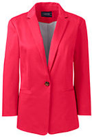 Lands' End Women's 3/4 Sleeve Sateen Tailored Blazer-Crimson Dawn