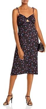 Aqua Floral Dot Print Midi Dress - 100% Exclusive