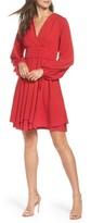 Eliza J Petite Women's Tie Sleeve Fit & Flare Dress