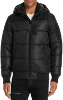 G Star Whistler Quilted Hooded Bomber Jacket