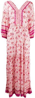 Poupette St Barth Floral Contrast Print Dress