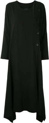 Yohji Yamamoto Asymmetric Hem Midi Dress