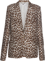 Stella McCartney Peak-lapel leopard-print wool-blend blazer