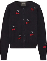 Markus Lupfer Sequin-embellished Cotton Cardigan - Midnight blue