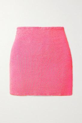 Hunza G Net Sustain Seersucker Mini Skirt - Bright pink