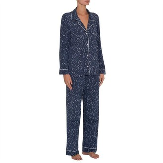 Eberjey Sleep Chic Long Pj Set Boxed Estrella Navy/Ivory M