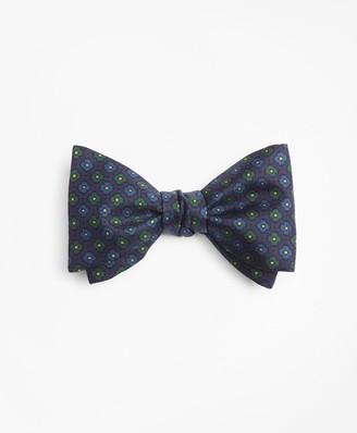 Brooks Brothers Mini-Flower Print Bow Tie