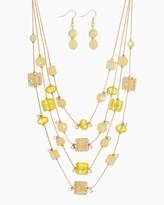 Charming charlie Floating Glass Necklace Set