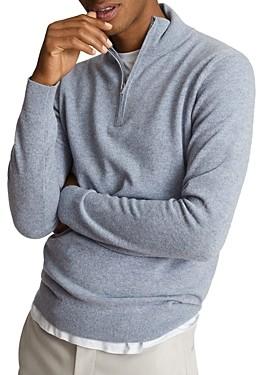 Reiss Quarter Zip Funnel Neck Cashmere Sweater