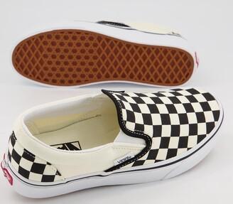 Vans Classic Slip On Trainers Black White Check Fl21