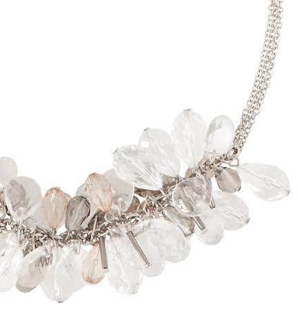 LOFT Short Clear Bauble Necklace