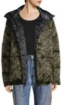 KENDALL + KYLIE Reversible Camo Puffer Jacket