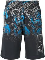 Emporio Armani Ea7 printed track shorts
