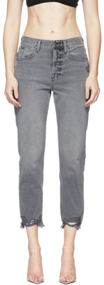 Frame Grey Le Original Raw Edge Jeans