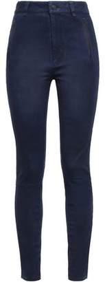J Brand Brushed-leather Skinny Pants
