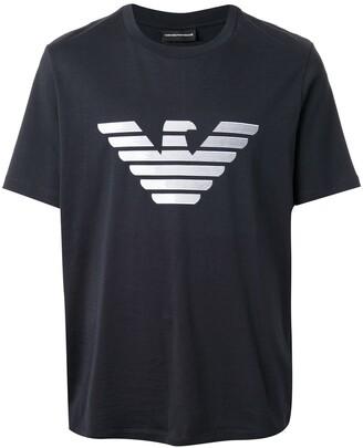 Emporio Armani short sleeve monogram print T-shirt