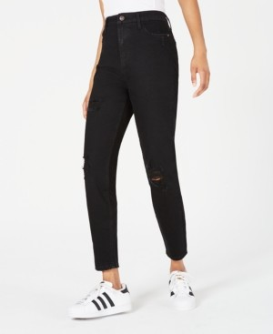 Vanilla Star Juniors' Ripped High-Rise Skinny Jeans