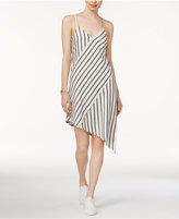 MinkPink Striped Asymmetrical Dress