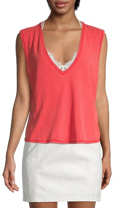 Free People Sleeveless V-Neck Top