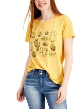 Rebellious One Juniors' Cacti Graphic T-Shirt