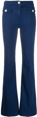 Elisabetta Franchi High Rise Flared Jeans