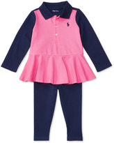Ralph Lauren Peplum Shirt & Leggings Set, Baby Girls (0-24 months)