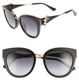 Jimmy Choo Women's Jade'S 53Mm Gradient Cat Eye Sunglasses - Black/ Gold/ Black