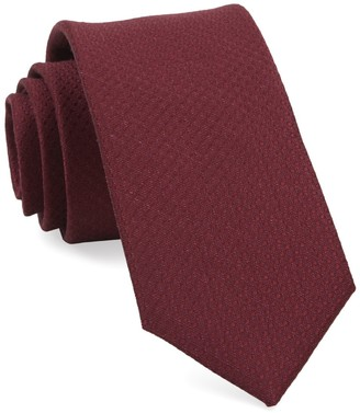 Tie Bar Dotted Spin Burgundy Tie