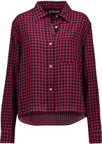 Etoile Isabel Marant Rian checked crinkled-chambray shirt