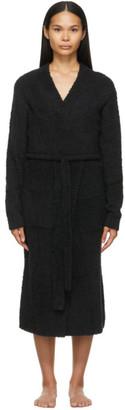SKIMS Black Knit Cozy Robe