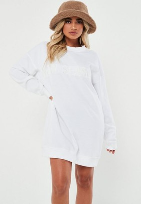 Missguided Petite White New Season Sweater Dress