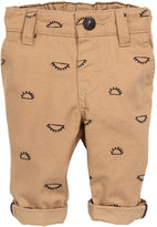 H&M Patterned Cotton Chinos - Dark beige - Kids