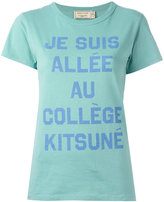 MAISON KITSUNÉ slogan print T-shirt