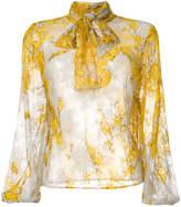 Blumarine bow tie blouse
