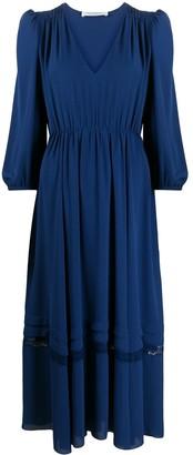 Philosophy di Lorenzo Serafini Embroidered Shift Midi Dress