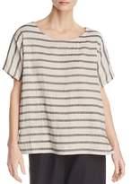 Eileen Fisher Striped Linen & Organic Cotton Top
